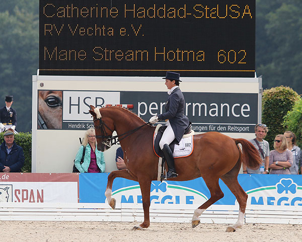 Catherine Haddad Staller and Mane Stream Hotmail in the Verden CDI3* Grand Prix. © 2015 Ken Braddick/dressage-news.com