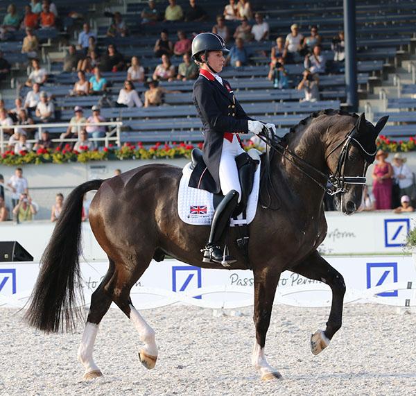 Charlotte Dujardin and Valegro innthe European Championships. © 2015 Ken Braddick/dressage-news.com