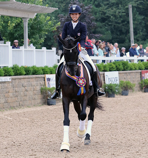 USA Under-25 Champion Chase Hickok on Sagacious HF. © 2015 Ken Braddick/dressage-news.com