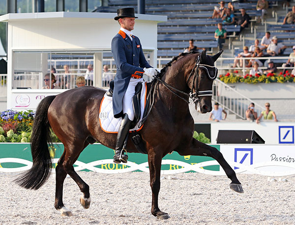 Edward Gal on Glock's Undercover in the European Championships Nations Cup. © 2015 Ken Braddick/dressage-news.com