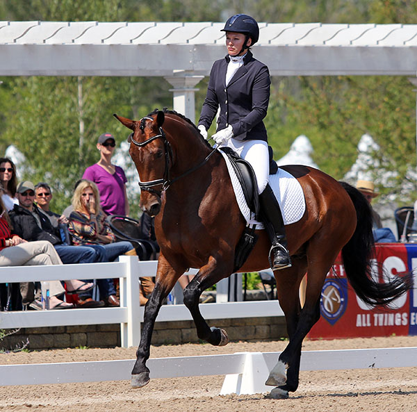 Emily Miles and Floretienne reserve USA Six-Year_old Champion. © 2015 Ken Braddick/dressage-news.com