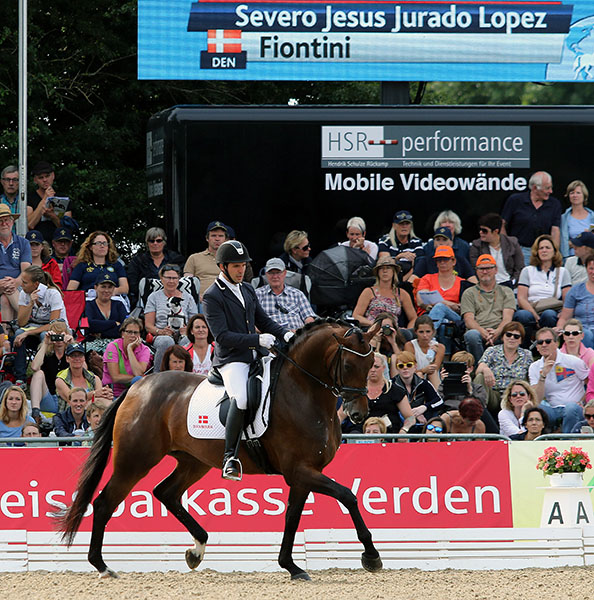 Severo Jurada riding Fontini to the world five-year-old championship gold medal © 2015 Ken Braddick/dressage-news.com