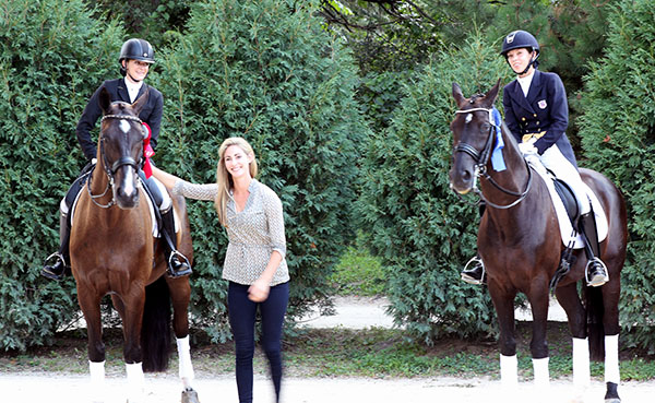 Caroline Roffman with Sierra Keastker on Lux Stensvang nd Chase Hickok on Sagacious HF.
