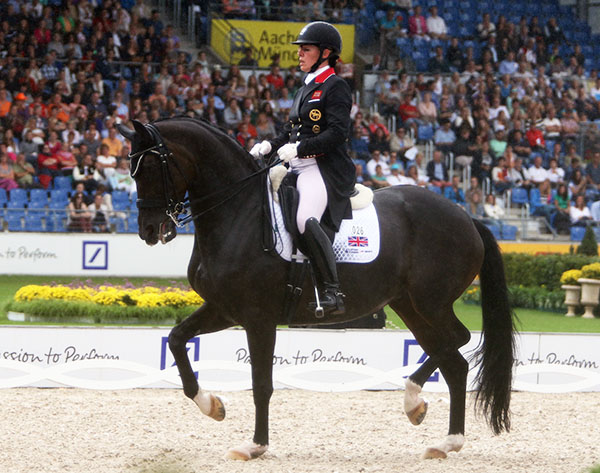 Fiona Bigwood riding Atterupgaards Orthilia on Great Britain's silver medal team at the European Championships. © 2015 Ken Braddick/dressage-news.com