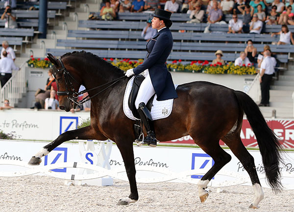 Mister X ridden by Inessa Merkulova. File photo © Ken Braddick/dressage-news.com