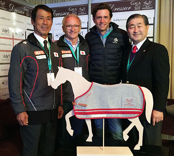 Jürgen and Christoph Koschel (center) with Japanese team officials.