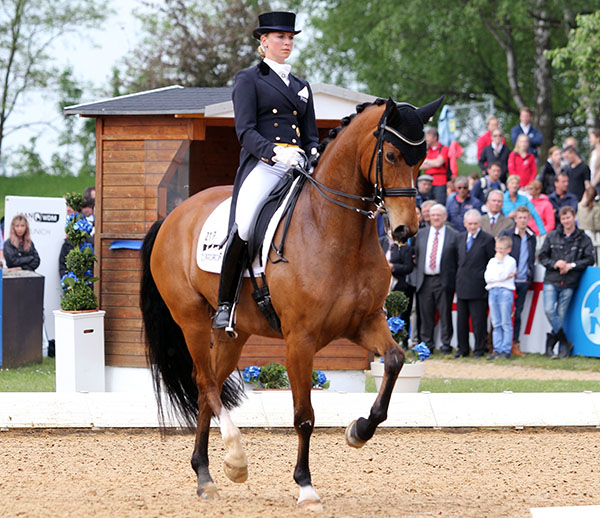 Jessica von Bredow-Werndl and Zaire. © 2015 Ken Braddick/dressage-news.com.