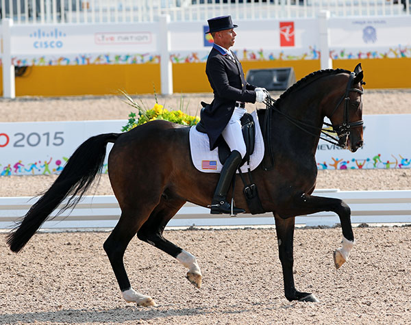 Steffen Peters and Legolas. © 2015 Ken Braddick/dressage-news.com