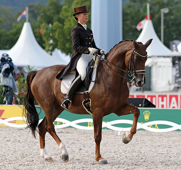 Victoria Max-Theurer on Blind Date. File Photo © 2015 Ken Braddick/dressage-news.com