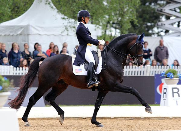 Allison Brock and Rosevelt competing in Europe. © 2015 Ken Braddick/dressage-news.com