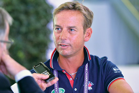 Carl Hester talking to Chris Hector The Horse Magazine