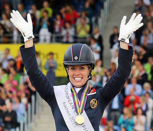 Charlotte Dujardin on the short list for Britain's Sunday Times and Sky Sports 2015 Sportswoman of the Year, a title she was awarded in 2014. © 2015 Ken Braddick/dressage-news.com