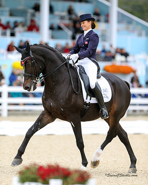 Mikala Gundersen and My Lady competing in the Devon World Cup Grand Prix Freestyle. © 2015 SusanJStickle.com