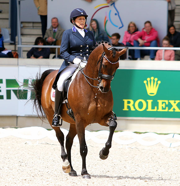 Shelly Francis and Doktor at Aachen, Germany. © 2015 Ken Braddick/dressage-news.com