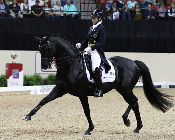 Terhi Stegars competing Axis TSF. File photo. © Ken Baddick/dressage-news.com