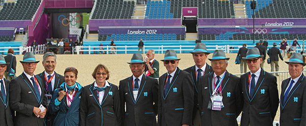 The 2012 Olympic Games ground jury and officials. © Ken Braddick/dressage-news.com