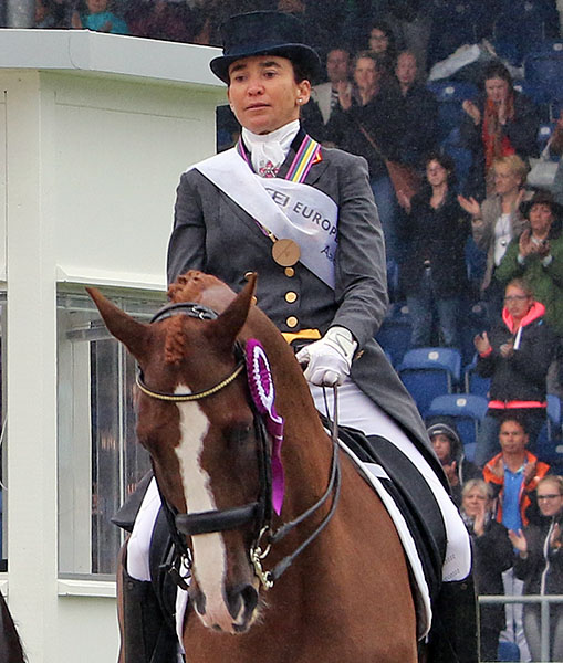 Beatriz Ferrer-Salat and Delgado. © 2015 Ken Braddick/dressage-news.com