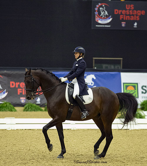 Gwen Poulin on William on thei way to US Dressage Finals Grand Prix Championship. © 2015 SusanJStickle.com