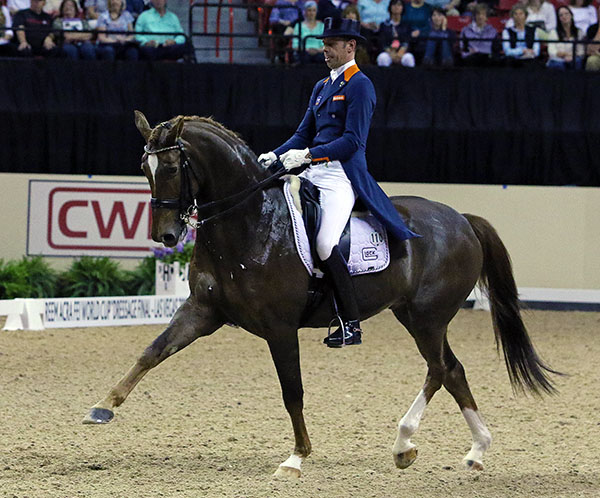 Hans Peter Minderhoud and Glock's Flirt. 2015 Ken Braddick/dressage-news.com