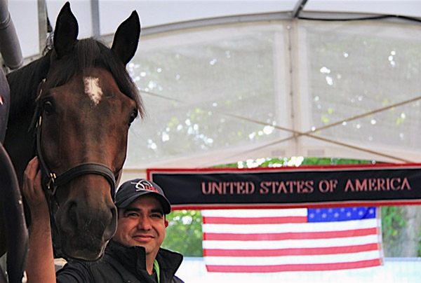"""Eddie"" Jose Eduardo Garcia Luna, the groom for horses ridden by America's No. 1 rider Steffen Peters, was named the FEI Best Groom for 2015. Photo Courtesy Steffen Peters"
