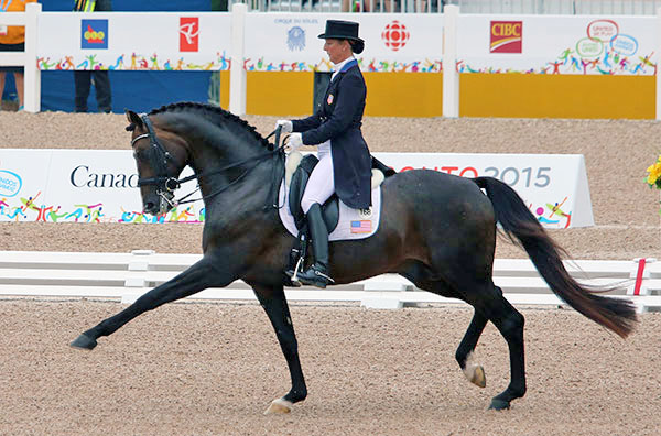Sabine Schut-Kery on Sanceo at the Pan American Games. © 2015 Ken Braddick/dressage-news.com