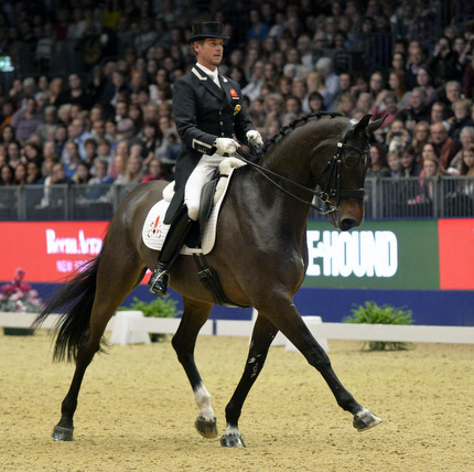 Carl Hester and Nip Tuck in the London Olympia World Cup Freestyle. © 2015 Kit Houghton/Hpower