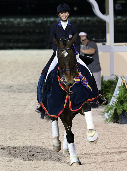 United States Grand Prix Championship pair of Laura Graves and Verdades. © 2015 Ken Braddick/dressage-news.com