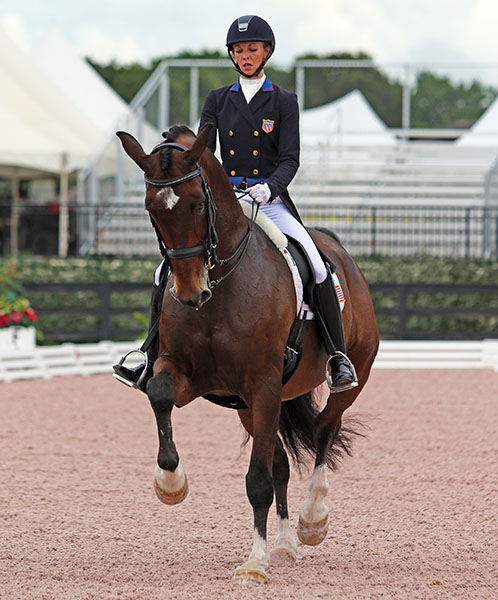 Laura Graves and Verdades completing their U.S. Championship Grand Prix Special. © 2015 Ken Braddick/dressage-news.com