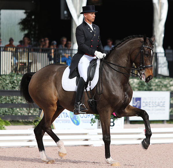 Steffen Peters and Legolasl. © 2015 Ken Braddick/dressage-news.com