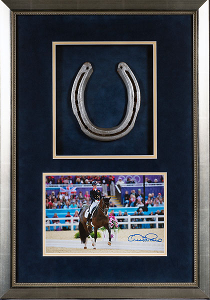 Valegro shoe and signed photo in framed set. © Christy Cunningham-Adams