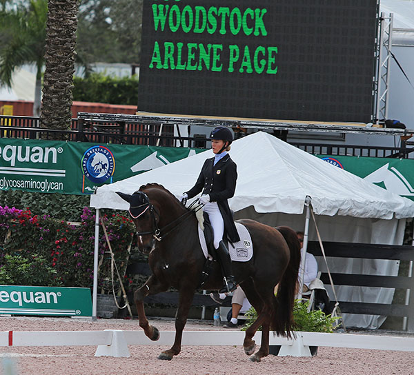 Arlene Page and Woodstock in the Adequan Global Dressage Festival CDI-W Grand Prix Special. © 2016 Ken Braddick/dressage-news.com