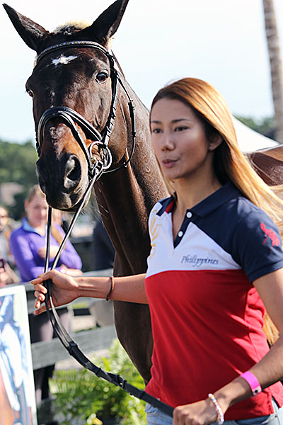 Ellesse Tzinberg of the Philippines and Pavarotti. © 2016 Ken Braddick/dressage-news.com