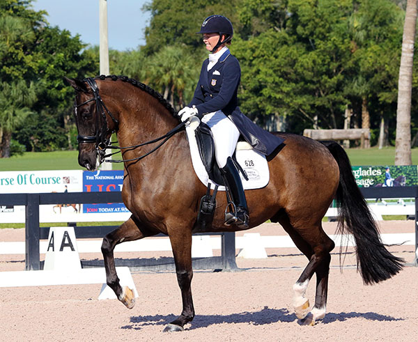 Katherine Bateson-Chandler of the United States and Alcazar. © Ken Braddick/dressage-news.com