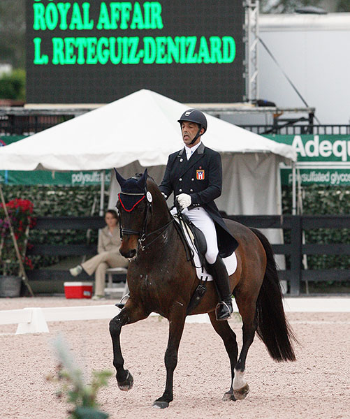 Luis Reteguiz-Denizard on Royal Affair, his Pan American Games mount that he has moved up to Grand Prix seeking an individual Olympic berth and competed in the Wellington World Cup Grand Prix. ©