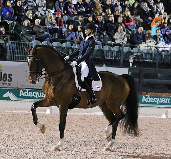 Laura Graves on Verdades in the World Cup Grand Prix Freestyle at the Adequan Global Dressage Festival. © 2016 Ken Braddick/dressage-news.com