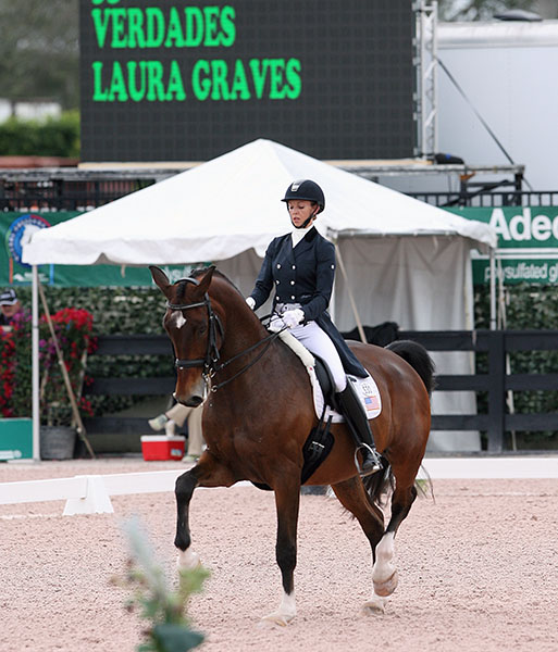 Laura Graves on Verdades in the Adequan Global Dressage Festival World Cup Grand Prix. © 2016 Ken Braddick/dressage-news.com