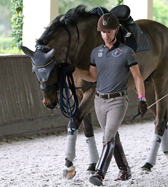 Nicholas Fyffe and Lumberjack at their Florida base at Stillpoint Farm in Wellington. © 2016 Ken Braddick/dressage-news.com