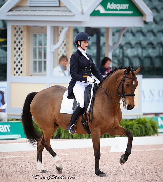 Leah Wilson Wilkins on Fabian JS in the Adequan Global Dressage Festival World Cup Grand Prix. © 2016 SusanJStickle.com