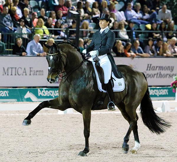 Top ranked comnination of Tinne Vilhelmson-Silfvén and Don Auriello. © 2016 Ken Braddick/dressage-news.com