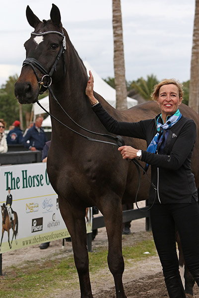 Charlotte Jorst and Kastel's Akeem Foldager to be competed in a CDI for the first time in Florida after an unsuccessful start in California last year. The Horse was ridden by Andreas Helgstrand on the Danish team at the 2013 European Championships. © 2016 Ken Braddick/dressage-news.com