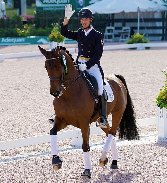 Chris von Martels and Divertimento moved to the Canada Olympic qualifying rankings based on result at the Adequan Global Dressage Festival World Cup event in Wellington, Florida Feb. 24-28. © 2016 Ken Braddick/dressage-news.com