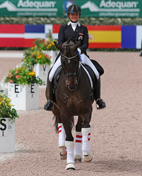 Diana Porsche and Di Sandro, the No. 1 Under-25 combination in the world and on Austria's team at the inaugural European Championships of the division.  © 2016 Ken Braddick/dressage-news.com