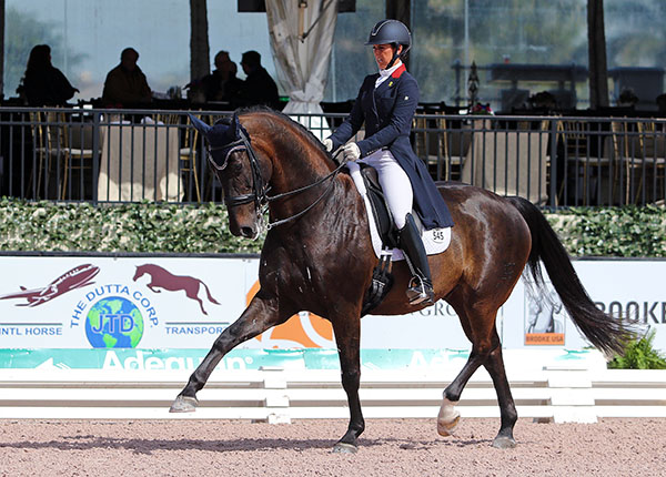 Kasey Perry-Glass and Dublet competing at the Wellington CDI3* Grand Prix. © 2016 Ken Braddick/dressage-news.com