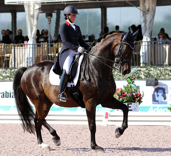 Kasey Perry-Glass riding Dublet. © 2016 Ken Braddick/dressage-news.com