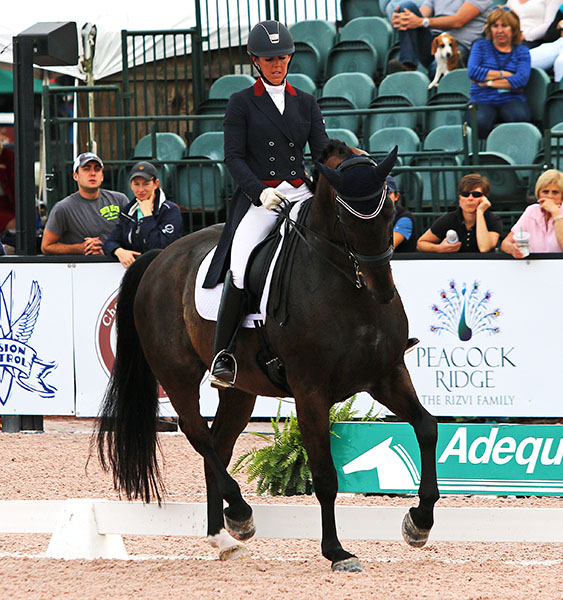 Kasey Perry-Glass and Goerklintgaards Dublet in the pair's debut international Big Tour at the Adequan Global Dressage Festival in Florida. © 2016 Ken Braddick/dressage-news.com