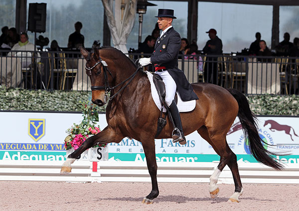 Rosamunde with Steffen Peters. File photo © 2016 Ken Braddick/dressage-news.com