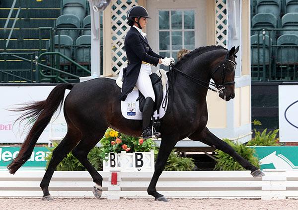 Rosevelt being ridden by Allison Brock in the CDI4* Grand Prix Special. © 2016 Ken Braddick/dressage-news.com