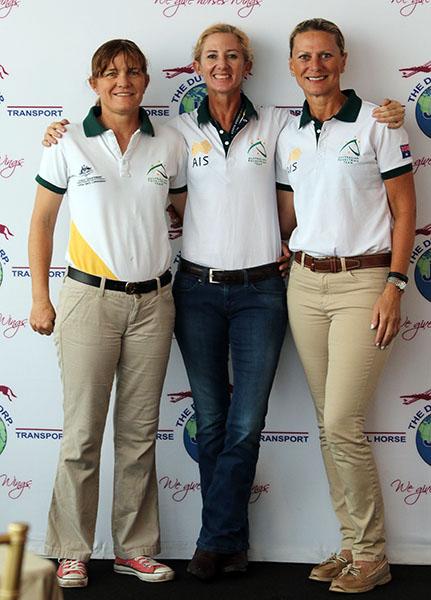 Australia's team of Ilse Schwarz, Kelly Layne and Kim Gentry. © 2016 Ken Braddick/dressage-news.com