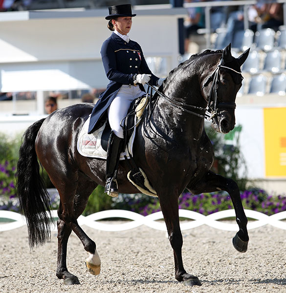 Beata Stremler and Rubicon D. © File photo. © Ken Braddick/dressage-news.com