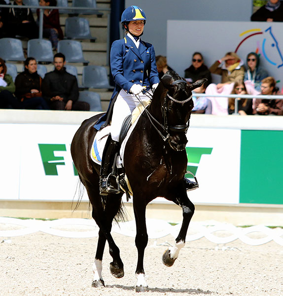 At the center of the controversy, Ukraine's Inna Logutenkova on Don Gregorius. Fle photo. © Ken Braddick/dressage-news.com